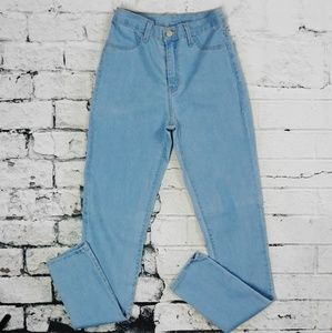 Denim - Light Blue High Waist Skinny Jeans